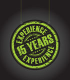 Fifth teen years experience stamp. A hanging fifth teen years experience stamp Stock Photos