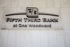 Fifth Third Bank Exterior And Logo In Detroit Stock Photo