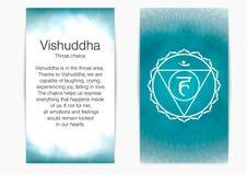 Fifth, throat chakra - Vishuddha. royalty free illustration