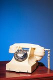 Fifties GPO vintage ivory telephone. Fifties antique British ivory color bakelite telephone GPO 332L Stock Images