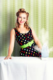 Fifties Classic Portrait Retro House Work Woman Royalty Free Stock Images