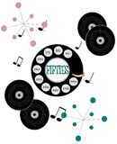 Fifties dial up background. Fifties retro dial up background over white Stock Image
