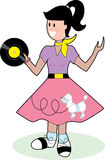 Fifties Girl. Young fifties style teenage girl in poodle skirt Stock Images