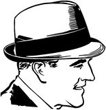 Fifties Guy With Hat Stock Photography