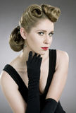 Fifties hairdo Royalty Free Stock Images