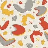 Mid-Century Autumn Pattern. Royalty Free Stock Image
