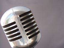 Fifties Mic Royalty Free Stock Photo
