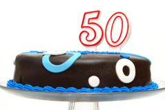 Fiftieth Birthday Celebration Stock Photography