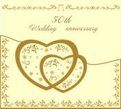 Fiftieth wedding invitation  illustration Stock Images
