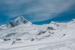Fifts et roches de ski Photo stock