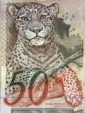 Fifty. Brazilian money - fifty reais - close up Royalty Free Stock Photo