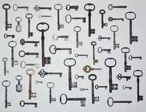 Fifty Antique Keys. royalty free stock photography