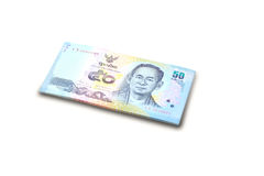Fifty baht banknotes Thailand Stock Photography