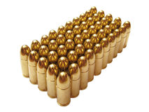 Fifty bullets Royalty Free Stock Image