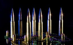 Fifty caliber ammo Stock Images