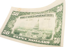 Fifty dollar banknote Royalty Free Stock Photography