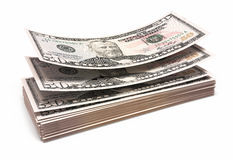 Fifty dollar banknotes. 3d render Fifty dollar banknotes closeup (isolated and clipping path Royalty Free Stock Photo