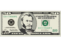 Fifty dollar bill vector illustration