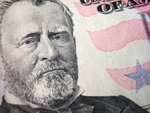 Fifty Dollar Bill-Grant on Left Stock Photo