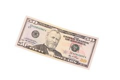 Fifty dollar bill. Stock Image