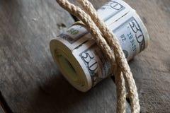 Fifty Dollar Bills Royalty Free Stock Photo