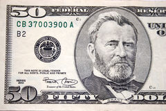 Fifty dollar, Grant stock images