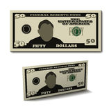 Fifty dollar paper bill banknote Stock Photo