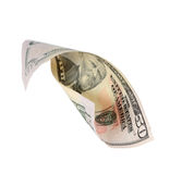 Fifty dollars. Rolled up fifty dollars isolated on white background Royalty Free Stock Photos