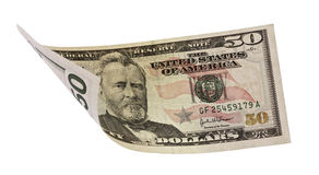 Fifty dollars banknote Royalty Free Stock Photos