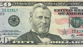 Fifty Dollars With One Note. 50 Dollars royalty free stock photography