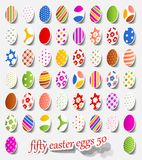 Fifty easter eggs Stock Image