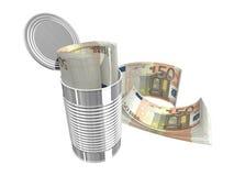 Fifty euro. Bundles of euro notes isolated over white Royalty Free Stock Photos