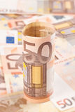 Fifty euro background 2 Stock Photos