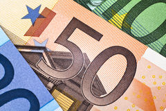 Fifty euro banknote Stock Photo
