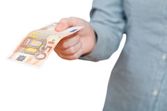 Fifty euro banknote Stock Photography
