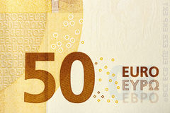 Fifty-euro banknote Royalty Free Stock Images