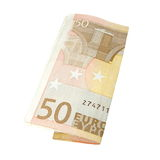 Fifty euro banknote, isolated on white Stock Photo