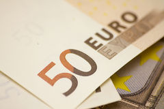Fifty euro banknotes Royalty Free Stock Photo