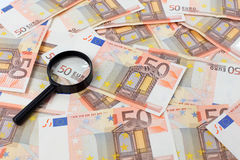 Fifty euro banknotes Royalty Free Stock Images