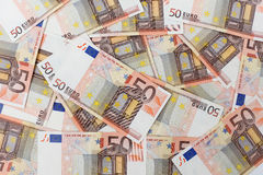 Fifty euro banknotes Royalty Free Stock Photography