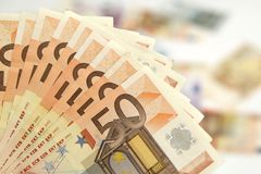 Fifty euro banknotes Stock Photos