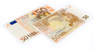 Fifty euro banknotes Stock Photography