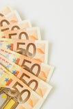Fifty euro banknotes Royalty Free Stock Photos