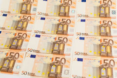 Fifty euro banknotes Stock Image
