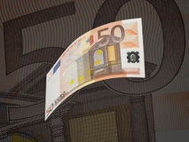 Fifty euro bill collage with warm tone Stock Photos