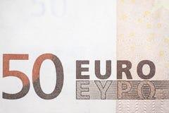 Fifty euro bill Stock Photos
