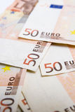 Fifty euro bills Stock Photo