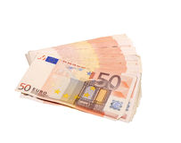 Fifty euro bills royalty free stock photography