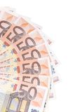 Fifty euro bills Royalty Free Stock Image