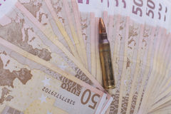 Fifty Euro Bullet Royalty Free Stock Photography